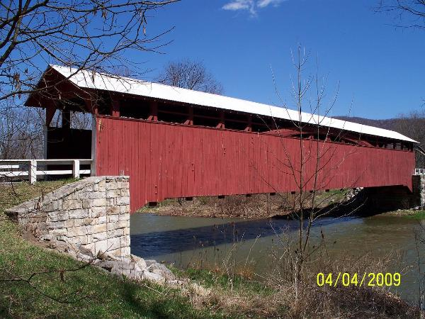 Herline Covered Bridge 38-05-11 Manns Choice Bedford County Pa