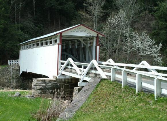 Jacksons Mill Covered Bridge 38-05-25 Breezewood Bedford County Pa